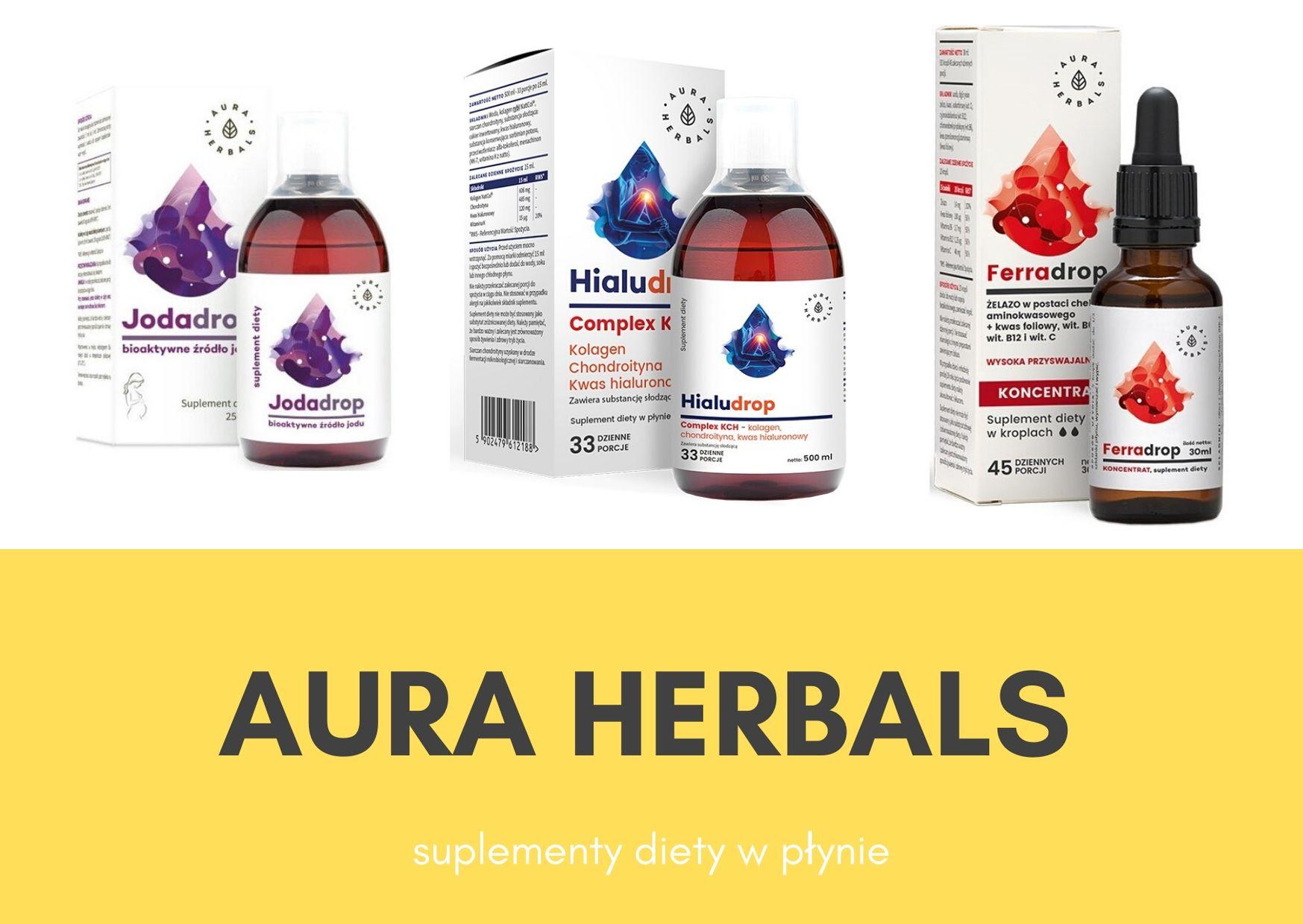 Aura Herbals – producent suplementów diety w płynie